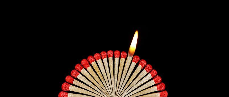 Match, Flame, Conflagration, Lighter, Matches, Sticks
