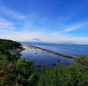 Nusa Penida, Bali, Mount Agung