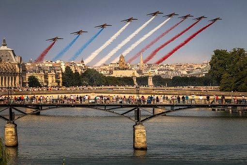 Paris, Festival, France, 14 July, Sky, Pont Des Arts