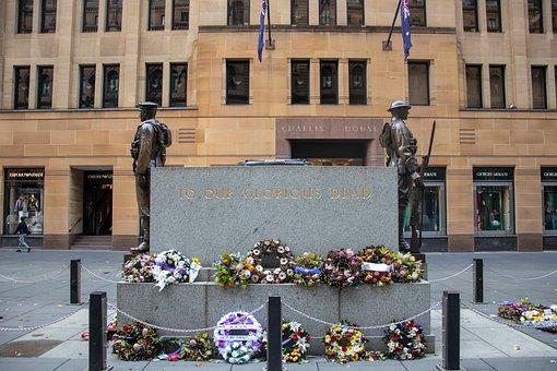 Memorial, Anzac, Day, War, Australia, Remembrance
