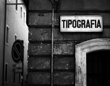 Typography, Rome, Street, Italy, Travel, City, Urban