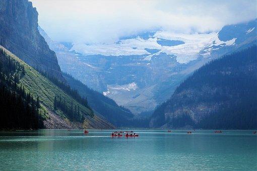 Lake Louise, Alberta, Canada, Landscape, Banff, Summer