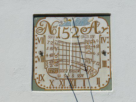 Sundial, Clock, Time, Time Of, Time Indicating, Sun