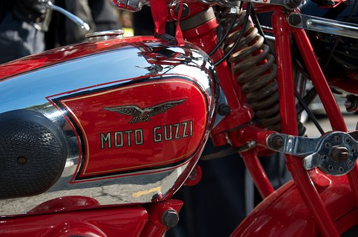 Motorcycle, Guzzi, Vehicle, Chrome, Italy, Metal, Tank