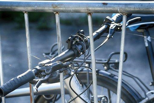 Steering Wheel, Fence, Bike, Bicycle