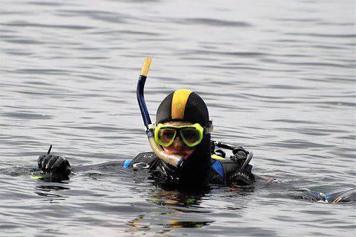 Divers, Diver, Check-out, Open Water, Ocean, Sea