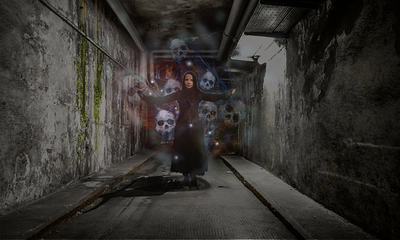 Tunnel, Dark, Abandoned, Skittish, Horror, Creepy