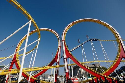 Roller Coaster, Summer, Sky, Attraction, Fun, Fair
