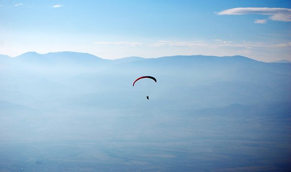 Paraglider, Flight, Sky, Earth, Paragliding, Sport
