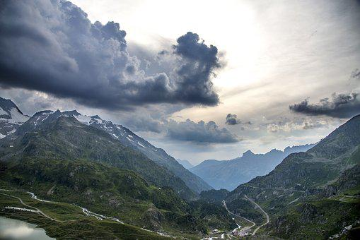 Mountains, Clouds, Landscape, Nature, Mountain, Alpine