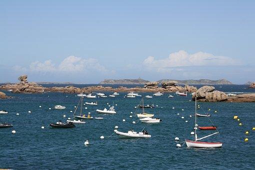 Brittany, Pink Granite Coast, Side Of Armor, Trégastel