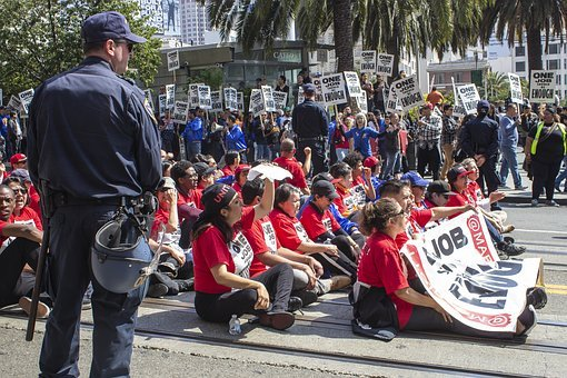 Labor Day Protest, Protestant, Hope, Unite, Strike