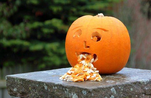 Pumpkin, Halloween, Nausea, Bad, Unwell, Vomiting, Puke