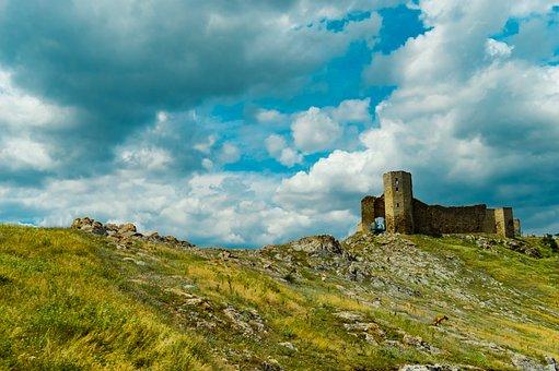 Building, Sky, Enisala, Dobrogea, Ro, Green, History