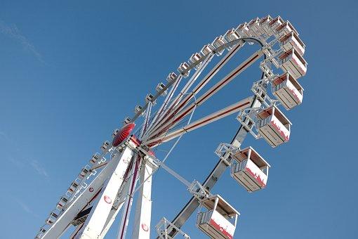 Ferris Wheel, Summer, Sky, Attraction, Fun, Fair