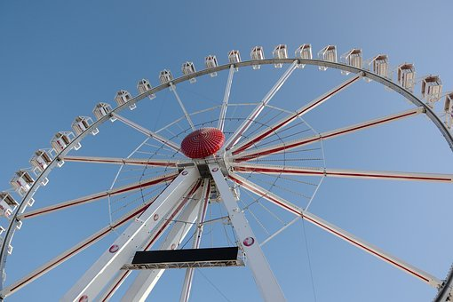 Ferris Wheel, Sky, Attraction, Fun, Fair, Year Market