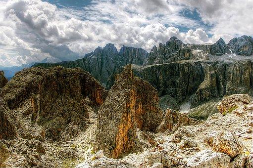 Cir, Dolomites, Alm, Nature, Rock, View, Alpine, Italy