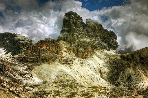 Croda Dei Toni, Mountains, Dolomites, Italy, Alpine