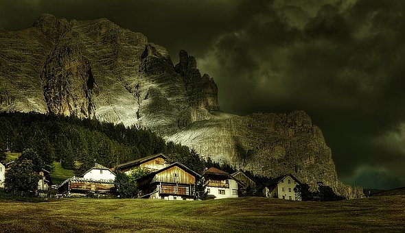 St Kassian, Alta Badia, Alm, Nature, Blue, Rubble Field