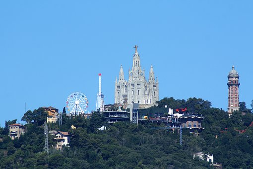 Tibidabo, Barcelona, Theme Park, Architecture, Spain
