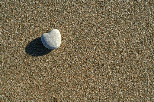 Heart, Love, Symbol, Sand, Beach, Stone, Romantic