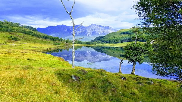Beinn Eighe, Loch Coulin, Reflections, Mountains
