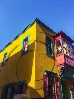 Architecture, Yellow, Multicolor, Building, Clear, Sky