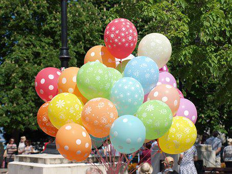 Balloons, Color, Holiday, Festival, Postcard, Surprise
