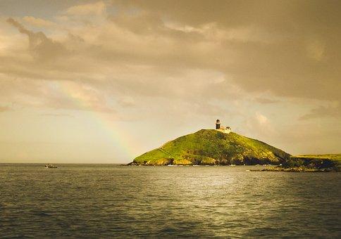 Island, Celtic Sea, Sea, Lantern, East, Screen, Summer