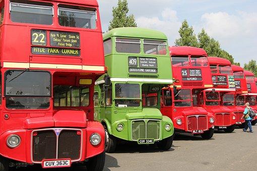 Bus, London, England, Road, City, Symbols, Travel