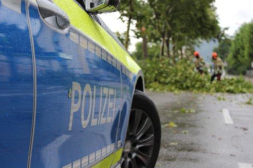 Police, Freiburg, Forward, Fire, Tree Damage