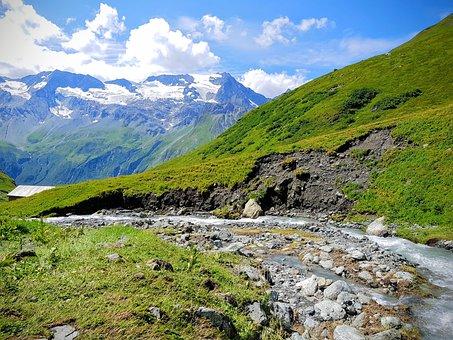 Creek, Flow, Erosion, Geology, Mountain, Eroded, Stones