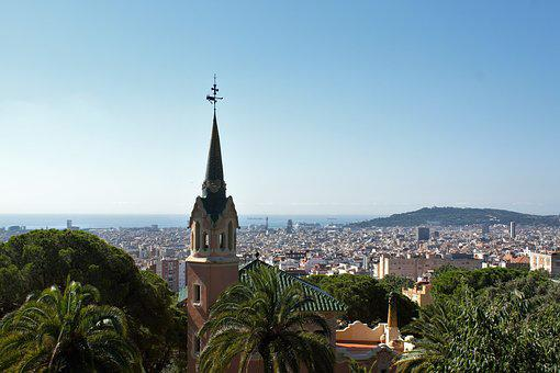 Fun, Guell, Gaudi Park, Park Guell, Architecture, Spain