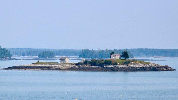 Island, Maine, Sea, Lobstering, Water, Landscape