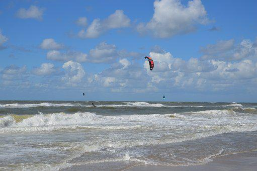Beach, Kite Surfing, Kitesurfer, Sport, Water, Surf