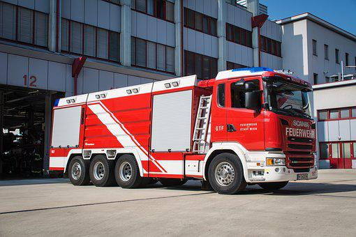 Fire, Large Tank Vehicle, Vienna, Use, Fire Truck