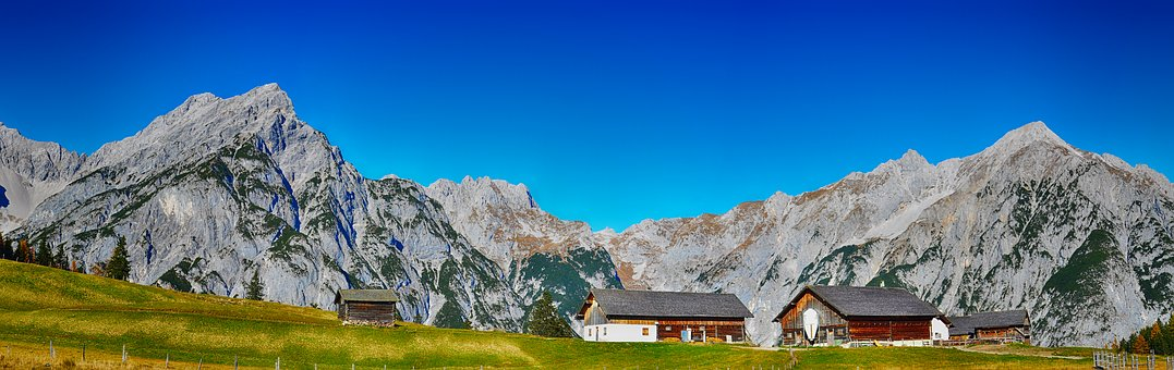 Tyrol, Mountains, Alm, Hut, Panorama, Alpine, Nature