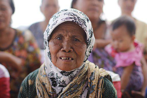 Old, Old People, Old Lady, Asian, Java Indonesia