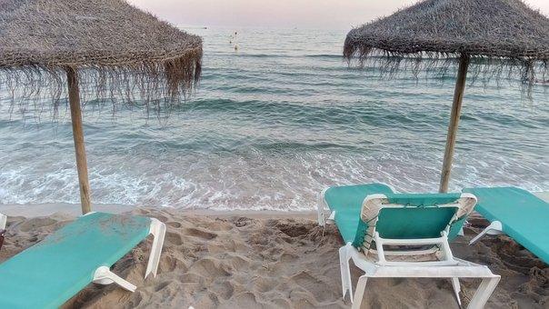 Beach, Poolside Snack Bar, Sea