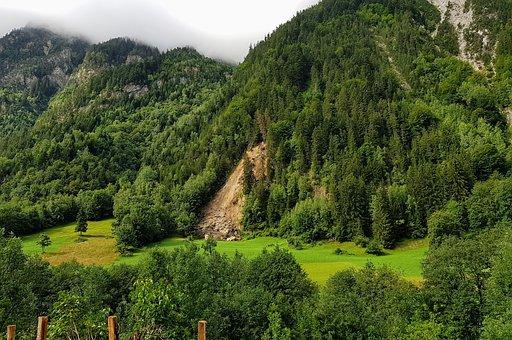 Geology, Slip, Mountain, Landslide, Rocks