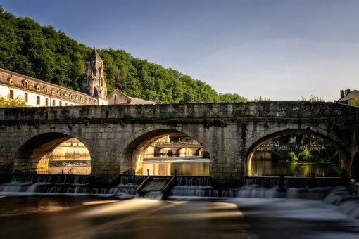 Bridge, Stone, Arch, River, Water, Flow, Middle Ages