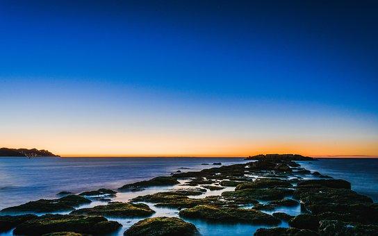 Vilajoyosa, Spain, Sea, Stones, Water, Nature