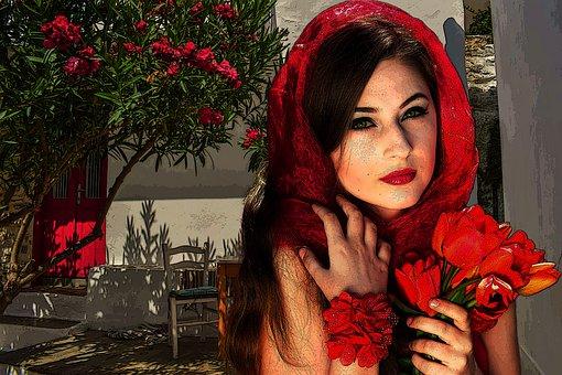 Vampire, Girl, Garden