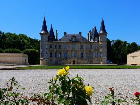 Castle, France, Wine, Bordeaux, Architecture, Building