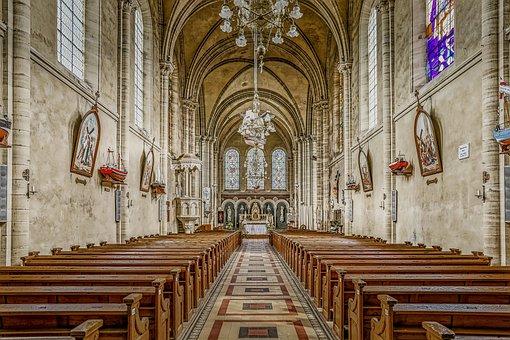 Church, Empty, Architecture, Building, Chapel, Catholic