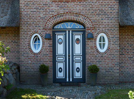 Sylt, Island, Friesland, Door, Input, Brick, Front Door