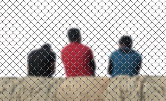 Fence, Men, Refugee, Integration, Deportation, Stay
