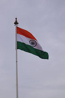Flag, India, Nature, Indian Flag, People, Stand