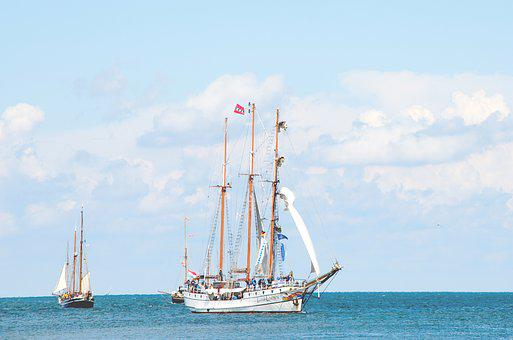 Sailing Vessel, Baltic Sea, Ship, Water, Sky