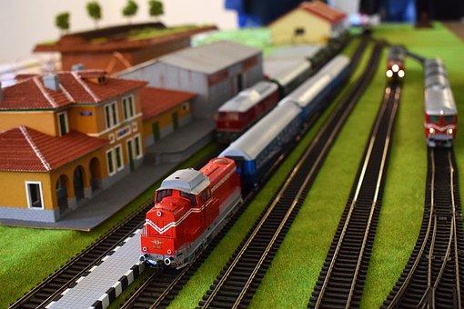Train, Slides, Railroad, Locomotive, Line, Layout